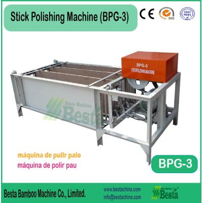 Stick Polishing Machine, bamboo bbq stick machine