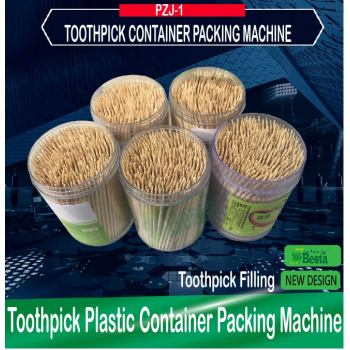 Toothpick Plastic Container Packing Machine