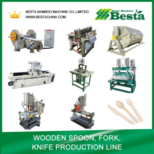 Wooden Spoon, fork, knife making machine