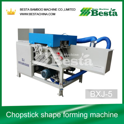 Chopstick shape forming machine (high speed), round chopstick sharpening machine