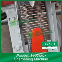 Double pointed toothpick making machine