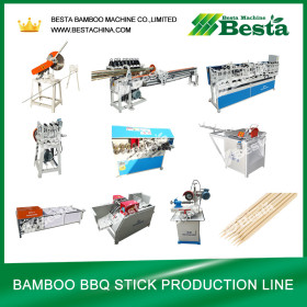 Bamboo BBQ Stick  Making  Machine  (Whole  Line) besta