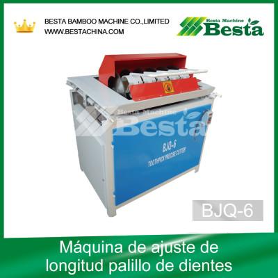Máquina de ajuste de la longitud del palillo de dientes BJQ-6, máquinas de fabricación de palillos de dientes