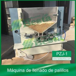 Máquina de llenado de palillos de dientes PZJ-1, Máquina empacadora de palillos por envase de plástico