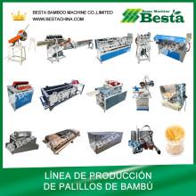 Línea de producción de palillos de dientes, máquina de palillos de bambú (juego completo)