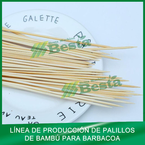 Palillo de barbacoa de bambú que hace la máquina (toda la línea) besta