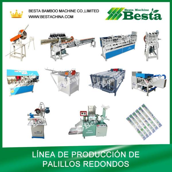 Máquina para hacer palillos redondos (toda la línea de producción)