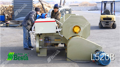 L520B Wood Rotary Cutting Machine, tongue depressor stick making machine