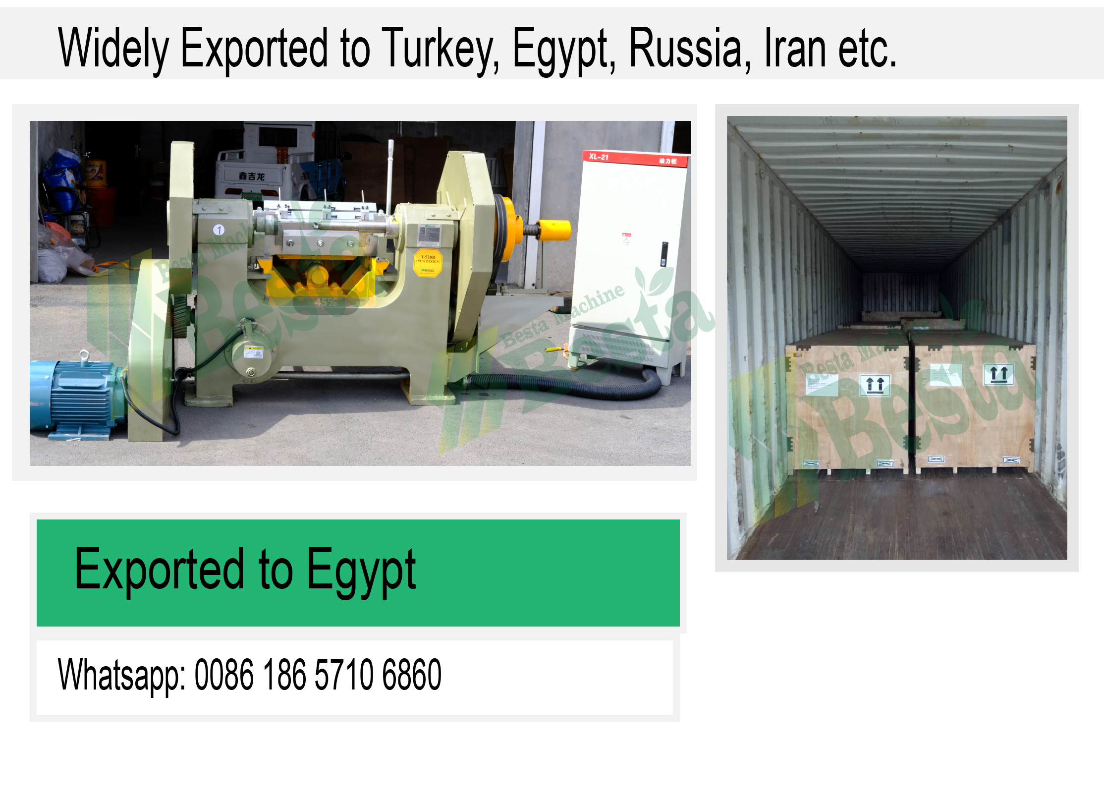 OUR MACHINE WIDELY EXPORTED