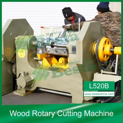 L520B Wood Rotary Cutting Machine, Automatic Wooden Spoon Making Machine