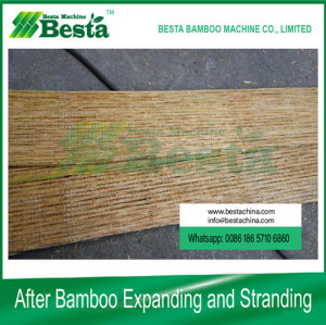 Bamboo Expanding and Stranding Machine, bamboo culm crusher (new)