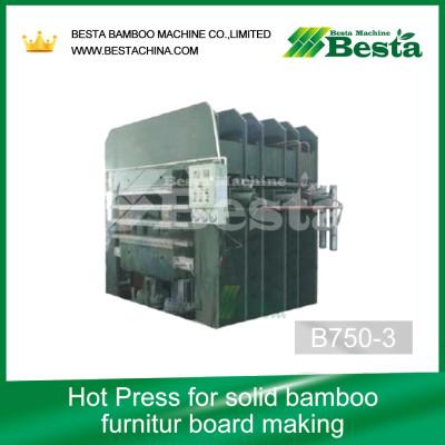 Solid Bamboo Furniture Board Machine, Hot Press Machine