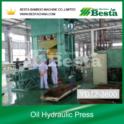 Strand Woven Bamboo Beam Cold Press Machine New Technology YD12-3600