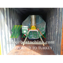 Wooden ice cream stick making machine exported to Turkey