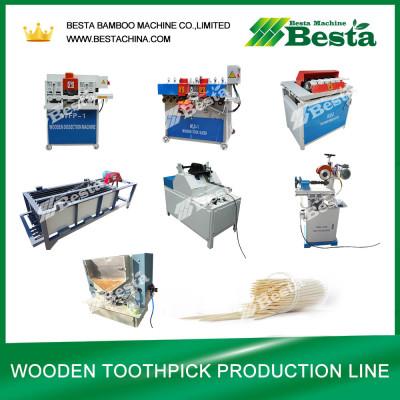Wooden Toothpick Making Machine-Main Machine List