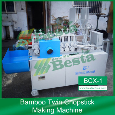 High speed twin chopstick shape forming machine, bamboo chopstick lines
