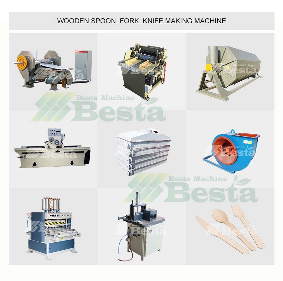 Wooden spoon making production line