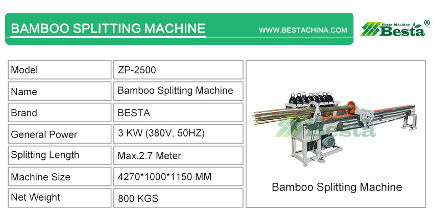 High quality bamboo splitting machine