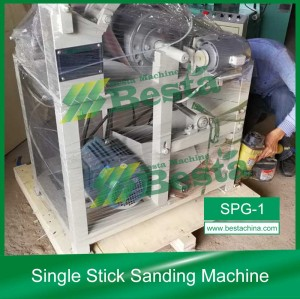 Single Stick Sanding Machine,Round Stick Polishing