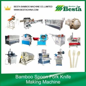 Bamboo Spoon, fork, knife making machine