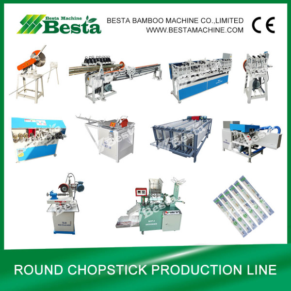 Round Chopstick Making Machine (whole production line)
