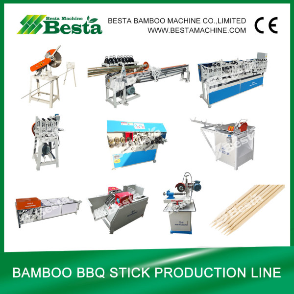 Bamboo BBQ Stick  Making  Machine  (Whole  Line) besta