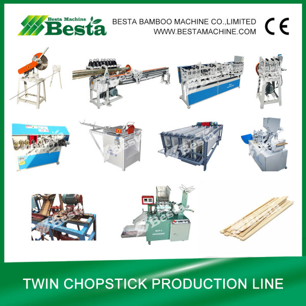 Bamboo Twin Chopstick Making Machine