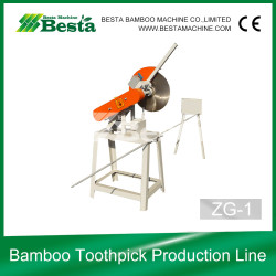Bamboo Toothpick Production Line, Raw Bamboo Sawing Machine