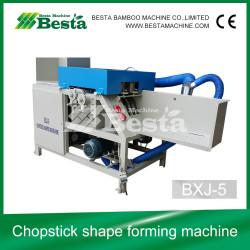 Chopstick shape forming machine (high speed), round chopstick sharpening machine