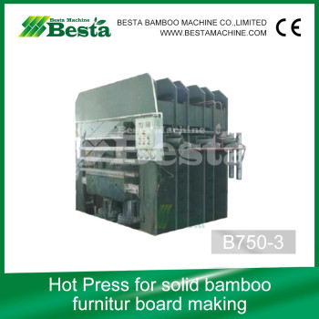 Solid Bamboo Board Hot Press Machine, Strand Woven Flooring Making Machine