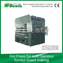 Solid Bamboo Furniture Board Machine, Hot Press Machine