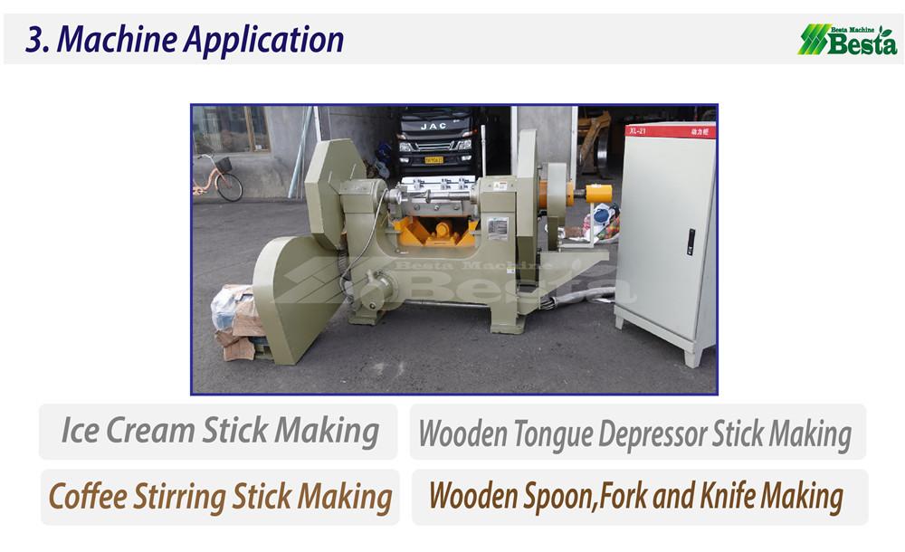 wood rotary cutting machine, ice cream stick making machine