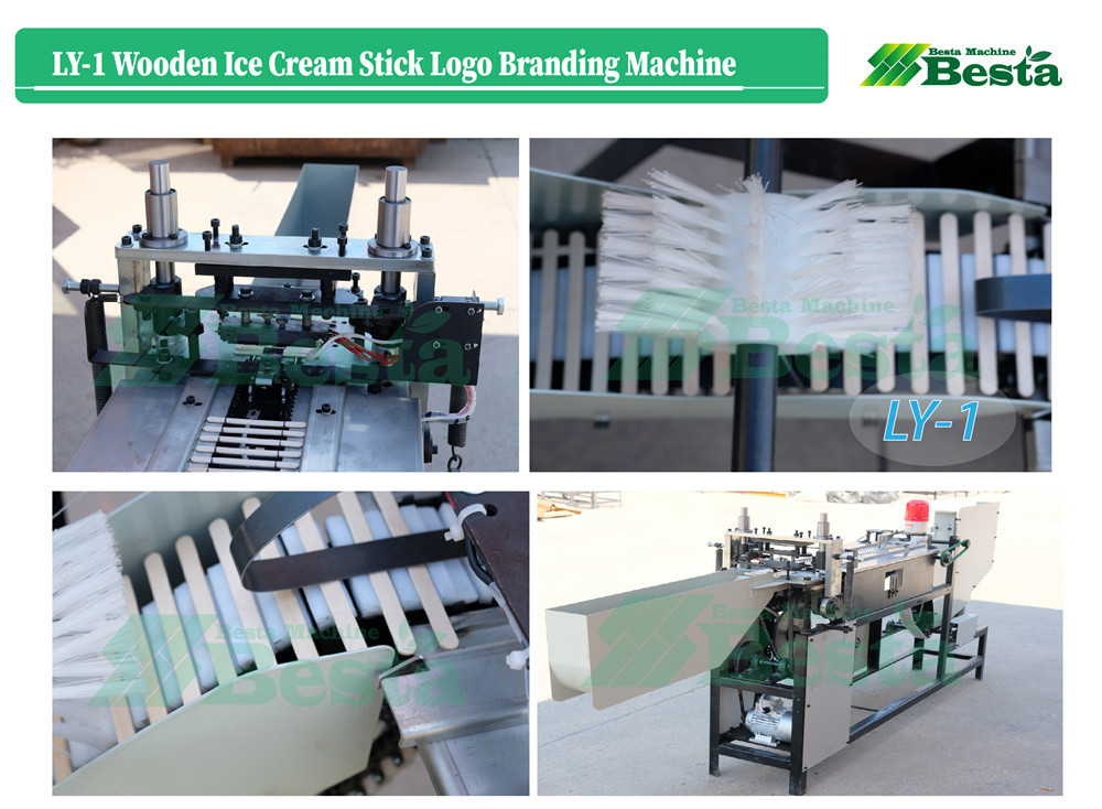 high quality wooden ice cream stick logo branding machine 2