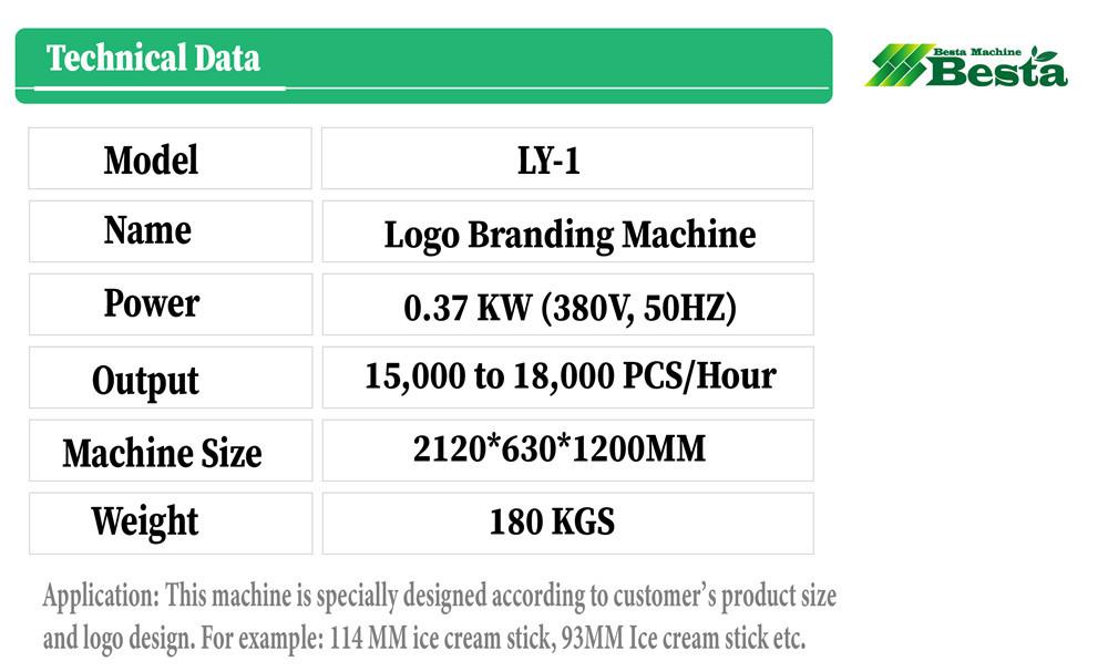 high quality wooden ice cream stick logo branding machine