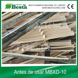 Planificación tira de bambú, nudo eliminación
