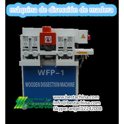 máquina de disección de madera