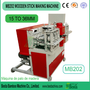 HIGH SPEED SMOOTH wooden stick making machine