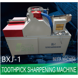 Double pointed toothpick sharpening machine