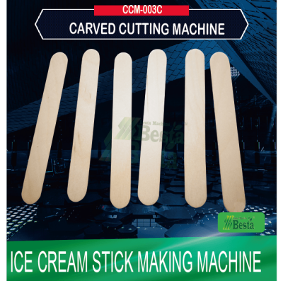 Ice cream stick making machine, wooden ice spoon making machine