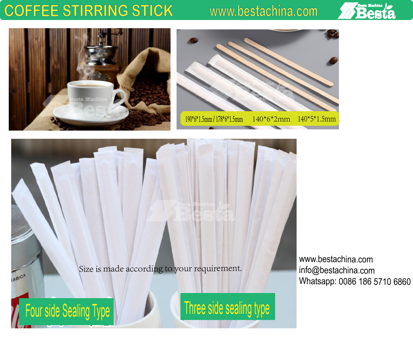 coffee stirring stick machine