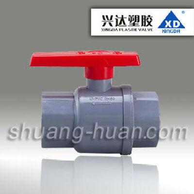 FA04 XD Brand Plastic combined ball valve, U-PVC combined ball valve with cheap and good quality, DIN SCH40 Standar
