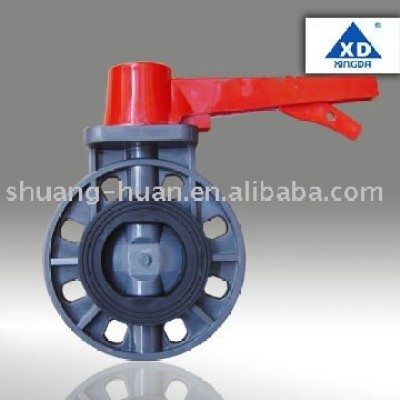 PVC Butterfly valve (handle lever type)