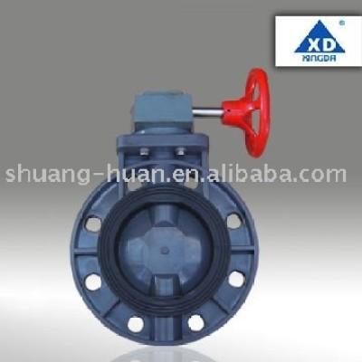 PVC Butterfly valve (worm gear type)