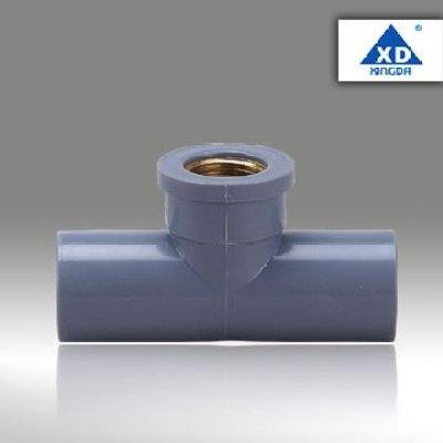 PVC 90 Deg Reducing tee (with copper)