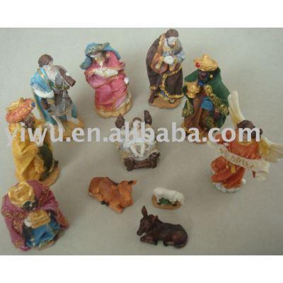 Polyresin Nativity Set(Manger), Nativity,Religious Craft