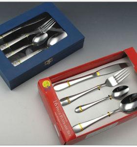 New stainless steel cooking tool sets tableware knife fork spoon brand dinner fork spoon tableware 9