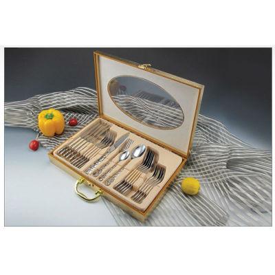 New stainless steel cooking tool sets tableware knife fork spoon brand dinner fork spoon tableware 02