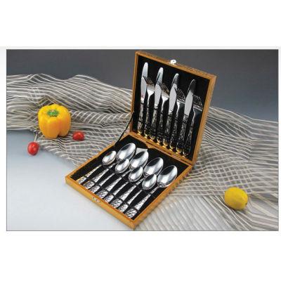 New stainless steel cooking tool sets tableware knife fork spoon brand dinner fork spoon tableware 01