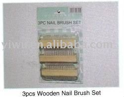 Yiwu Dollar Store Item Agent of Wooden Nail Brush Set