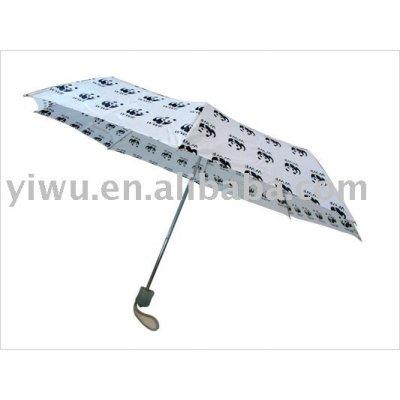 White and Black Three Fold Umbrella